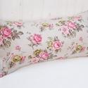 Vintage párna rózsákkal pasztell pink színben - romantikus párna - rózsás pasztell rózsaszín, shabby chick 60x30cm, Otthon, lakberendezés, Lakástextil, Párna, Igazi shabby chick stílusú rózsás párna ez, gyönyörű színekben. Nem tolakodó, pasztell rózsaszín - m..., Meska