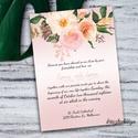 Esküvői meghívó,Rosegold meghívó, Esküvő, Meghívó, ültetőkártya, köszönőajándék, Mindenmás,  Esküvői meghívó  ~Méret: kb A/5 ~Felbontás: 300 dpi ~CMYK  Meghívó nyomtatás fényes kartonra.  Ára..., Meska