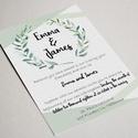 Esküvői meghívó, Esküvő, Meghívó, ültetőkártya, köszönőajándék, Mindenmás,  Esküvői meghívó  ~Méret: kb A/5 ~Felbontás: 300 dpi ~CMYK  Meghívó nyomtatás fényes kartonra.  Ára..., Meska