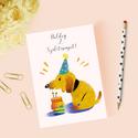 Egyedi szövegezésű születésnapi képeslap, szülinapi képeslap, üdvözlőlap, Egyedi szövegezésű születésnapi képeslap bor...