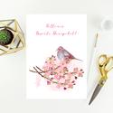 Húsvéti képeslap, ajándék, üdvözlőlap, Húsvéti képeslap.  Mérete B6, borítékkal egy...