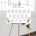 Greenery stílusú esküvői ülésrend, vintage esküvői kellék, Greenery esküvői ülésrend, több méretben és...