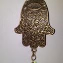 Fatima keze - nyaklánc, Ékszer, Nyaklánc, Fatima kezét ábrázoló antikolt bronz medált fűztem fel az 50cm-es láncra.  5000Ft feletti ren..., Meska