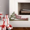 Boldog Karácsonyt felirat, Otthon, lakberendezés, Dekoráció, Karácsonyi, adventi apróságok, Karácsonyi dekoráció, Hangulatos karácsonyi dísz-felirat, mely hozzájárul az otthonod ünnepi hangulatához.   Mérete: 53x25..., Meska