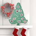 Egyedi karácsonyfa, Karácsonyi, adventi apróságok, Otthon, lakberendezés, Karácsonyi dekoráció, Karácsonyfadísz, Fenyőfa formájú termékem, mely tetszés szerint bármilyen színű és alakú dísszel dekorálható. Méretéb..., Meska