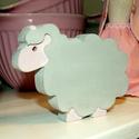 Húsvéti farmos báránykák, Dekoráció, Húsvéti apróságok, Húsvéti báránykák, melyek felhasználhatók ajtó kopogtatóra vagy akár asztali dekorációra.   Tetszás ..., Meska