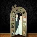 Esküvői paraván, Dekoráció, Esküvő, Otthon, lakberendezés, Esküvői dekoráció, AKCIÓÓÓÓ!!!   Mesés dísze a szobának és egyben az esküvői fotóknak ez a fotó paraván.   Mérete: 111x..., Meska