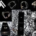 Tipech, Ékszer, Gyűrű, Au ~0.04gramm Ag ~7.32gramm Hordható gyűrűméret/kerület ~5.5cm + Egyedih ėkszerdoboz Általam ..., Meska