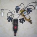 2-es fali bor-pohártartó. , Férfiaknak, Otthon, lakberendezés, Megrendelhető ez a kézzel készített egyedi bor-pohártartó, két üveg bor tárolására alkalmas, és két ..., Meska