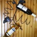 Fali 4-es bortartó., Férfiaknak, Otthon, lakberendezés, Megrendelhető ez a kézzel készített egyedi fali bortartó. 2db csavarral egyszerűen a falra szerelhet..., Meska