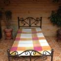 Kovácsoltvas ágy., Bútor, Otthon, lakberendezés, Ágy,  Megrendelhető a képen látható kézzel készített kovácsoltvas ágy, de egyedi elképzelés al..., Meska