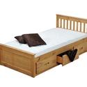 Gyerek fenyő ágy, 3db fiókkal., Bútor, Ágy, Famegmunkálás, Gyerek fenyő ágy, 3db fiókkal.  Egyedi elképzelés alapján is gyártunk ágyat.  Ágyat csak megrendelé..., Meska