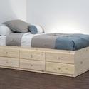 Gyerek fenyő ágy, 6db fiókkal., Bútor, Ágy, Gyerek fenyő ágy, 6db fiókkal.  Egyedi elképzelés alapján is gyártunk ágyat.  Ágyat csak megrendelés..., Meska