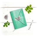 ' Pillangó ' Napló / Journal, Naptár, képeslap, album, Jegyzetfüzet, napló, Bőrművesség, Könyvkötés, Ez a gyönyörű napló csak arra vár, hogy megtöltsd a gondolataiddal!  ~ A Pillangó szó ógörögül a Le..., Meska