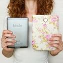 """ROMANCE 6"""" - Rózsás -  Textil Kindle / E-book tok, Táska, Pénztárca, tok, tárca, Varrás, Ugye Te is vigyázol, hogy ne sérüljön, karcolódjon össze a géped? Legnagyszerűbb megoldás egy ilyen..., Meska"""
