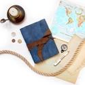 ' Viking ' Antik Bőr Napló A5 - Szimbólummal, Naptár, képeslap, album, Jegyzetfüzet, napló, Bőrművesség, Könyvkötés, Antik stílust kedvelőknek!   Az első oldalon egy Viking jelképpel: -  neve Vegvisir - Viking Irányt..., Meska