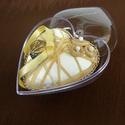 Szív alakú gyűrűtartó doboz, Ékszer, óra, Esküvő, Ékszertartó, Gyűrűpárna, Ékszerkészítés, Tedd még egyedibbé az esküvődet/a lánykérést ezzel a teljesen egyedi, kézzel díszített szív alakú g..., Meska