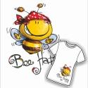 Bee Happy női póló, Sol's Imperial női póló aranyos mintával, Bee ...