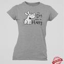 My Dog Makes Me Happy női póló, A termékről bővebben:   Kedvenc kutyás pólój...
