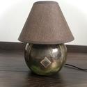 Zöld-Réz Gömb éjjeli lámpa, Raku technikával készült, ezért 100 %osan egye...