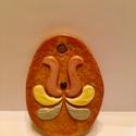 Színes kerámia húsvéti függő dísz, Virágmintás húsvéti függő dísz Méret: 4cm ...