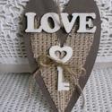 Key to my heart, Dekoráció, Otthon, lakberendezés, Dísz, Rusztikus, festett fa szív kulccsal.  Mérete: 18*10 cm, Meska
