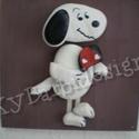 Snoopy kutya - kavics mese kollekció, Dekoráció, Otthon, lakberendezés, Kép, Falikép, Sajat tervezésű kavics-mese kollekcióm részeként a mindenki által jól ismert és kedvelt Snoopy kutyá..., Meska