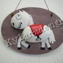 The White Horse - kavics mese kollekció, Dekoráció, Otthon, lakberendezés, Baba-mama-gyerek, Falikép, A herceg nélküli, mesebeli fehér ló.... :-) Egyedi, saját tervezésű kavics-mese kollekcióm darabját ..., Meska
