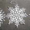Horgolt hópihe szett - 6 db, Különböző méretű és formájú horgolt hópe...