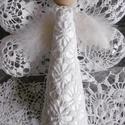 Horgolt angyal csúcsdísz, Horgolt ruhába bújtatott angyalka. Karácsonyfa ...