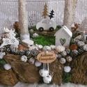 A kis fenyőfa àlma - adventi asztaldísz, Dekoráció, Ünnepi dekoráció, Karácsonyi, adventi apróságok, Karácsonyi dekoráció, Adventi asztaldísz rusztikus gyertyákkal, kis fenyőfákkal, fa figurákkal...   A kis fenyőfa á..., Meska