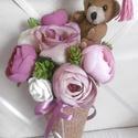 Ballagásra - kicsiknek, nagyoknak - ovisoknak - iskolásoknak - virágtölcsér - virágcsokor, Különböző (plüss, kerámia) figurákkal, táb...