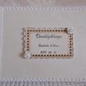 Vintage esküvői vendégkönyv - emlékkönyv - Vendégkönyv - Esküvői Emlékkönyv - könyv, Esküvő, Otthon & lakás, Esküvői dekoráció, Dekoráció, Ünnepi dekoráció, Szerelmeseknek, Nászajándék, Elegáns esküvői vendégkönyv. Díszített, feliratozott - a szerelmes pár keresztneveivel és a nagy nap..., Meska
