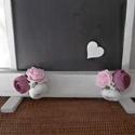 Vintage esküvői tábla - írható tábla - jelzőtábla - esküvői ültető tábla, Esküvő, Esküvői dekoráció, Igény szerint feliratozható tábla tartóval.  A tábla mérete (írható felület) 30x37 cm. , Meska