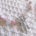 AKCIÓ! Rózsaopál (pink opál) karkötő - ásvány karkötő, Ékszer, Karkötő, Most FÉLÁRON! Rózsaopál VAGY rózsaopál és hegyikristály 6 mm-es ásványgömbjeiből készült gumis karkö..., Meska