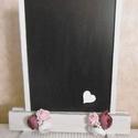 Vintage esküvői tábla - írható tábla - jelzőtábla - esküvői ültető tábla - menütábla, Otthon & lakás, Esküvő, Dekoráció, Esküvői dekoráció,  Igény szerint feliratozható tábla tartóval. A tábla mérete (írható felület) 30x37 cm., Meska