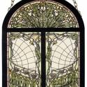 Díszüveg V, Otthon, lakberendezés, Antik stílusú üvegkép. A festékréteget beleégetem az üvegbe, ez tartós, időtálló nyomato..., Meska