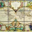 Antik térkép kerámia mozaikokból  (60x90 cm), Dekoráció, Képzőművészet, Otthon, lakberendezés, Kép, Kerámia, Mozaik, Kerámia mozaikkép, 9db, 20x30 cm-es mozaikból összeillesztve. Tartós, égetett kivitel, nem sérüléke..., Meska
