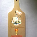 Szakács elismerés, Konyhafelszerelés, Vágódeszka, Egy kedves ajándék konyhatündéreknek.  Anyaga: bükkfa Méret: 20 x 8 x 1 cm, Meska