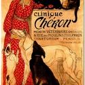 Clinique Chéron - Szecessziós stílusú üvegkép