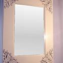 Classic (3)fehér-vintage, Bútor, Magyar motívumokkal, Otthon, lakberendezés, Képkeret, tükör, Festett tárgyak, Famegmunkálás, Legújabb tükörkeretünket a napjaink egyik kedvelt irányzatának megfelelő \'vintage\' stílusban kész..., Meska