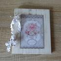Vintage rusztikus esküvői vendégköny, fotóalbum,  jókívánság könyv, Esküvő, Nászajándék, Esküvői dekoráció, Meghívó, ültetőkártya, köszönőajándék, Festett tárgyak, Mindenmás, Vintage, rusztikus stílusban készült ez a különleges esküvői vendégkönyv, mely  jókívánságok gyűjté..., Meska
