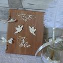 Pajta rusztikus esküvői vendégkönyv jókívánság könyv fotóalbum  magyaros, Esküvő, Nászajándék, Meghívó, ültetőkártya, köszönőajándék, Festett tárgyak, Mindenmás,  Legtöbbünk életében eljön az a bizonyos NAGY NAP, melyre hónapokig készülődünk örömteli várakozáss..., Meska