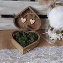 ÚJ !!!  Erdei Gyűrűpárna helyett esküvői gyűrűtartó fadoboz vintage rusztikus stílusban, Esküvő, Gyűrűpárna, Nászajándék, Meghívó, ültetőkártya, köszönőajándék, Festett tárgyak, Mindenmás, Erdei, rusztikus stílusú esküvőre  készülsz? Akkor kitűnő választás ez az esküvői gyűrűtartó fadobo..., Meska