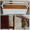 Vintage paraszt pad lóca, Bútor, Pad, A képen látható pad megrendelésre lett felújítva, hasonlót tudok készíteni. A pad felületk..., Meska