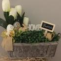 Tulipános láda, Dekoráció, Otthon, lakberendezés, Asztaldísz, Tulipános asztaldísz., Meska