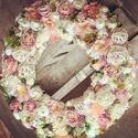Itt a tavasz, Dekoráció, Otthon, lakberendezés, Ajtódísz, kopogtató, 35 cm-es fonott koszorú alapra készített ajtódísz., Meska