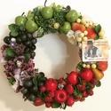 Gyümölcsös ajtódísz, Otthon, lakberendezés, Ajtódísz, kopogtató, 30cm, Meska