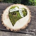 Gyűrűtartó fából, Esküvő, Szerelmeseknek, Gyűrűpárna, Mérete: 13cm, Meska