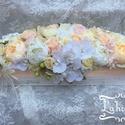Esküvői fő asztaldísz, Esküvő, Esküvői dekoráció, Mérete: 50cm A virágok nem élőek., Meska